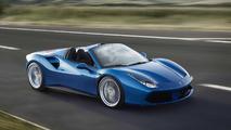 Ferrari 488 Spider azul
