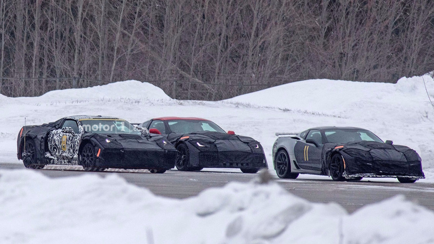 Mid-engine Chevy Corvette and next ZR1 spied testing together
