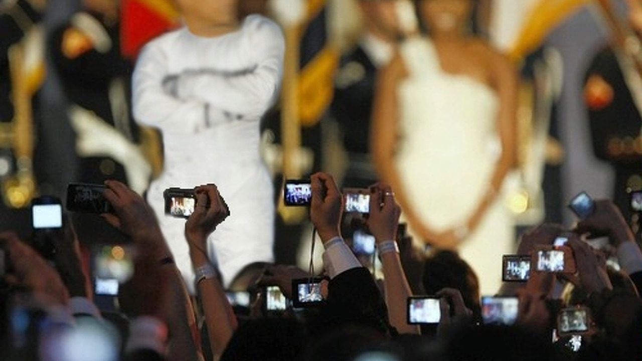 U.S. President Barack Obama and First Lady Michelle Obama at an Inauguration Ball