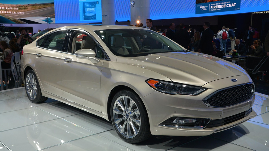 2017 Ford Fusion V6 Sport breaks cover with 325 hp and AWD [LIVE PICS]