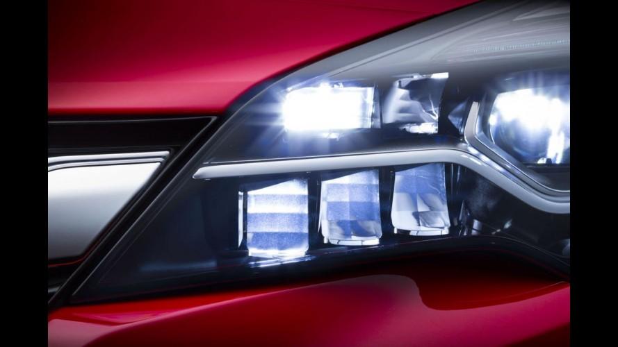 Opel Astra 2016, que estreia em setembro, terá faróis LED Matrix