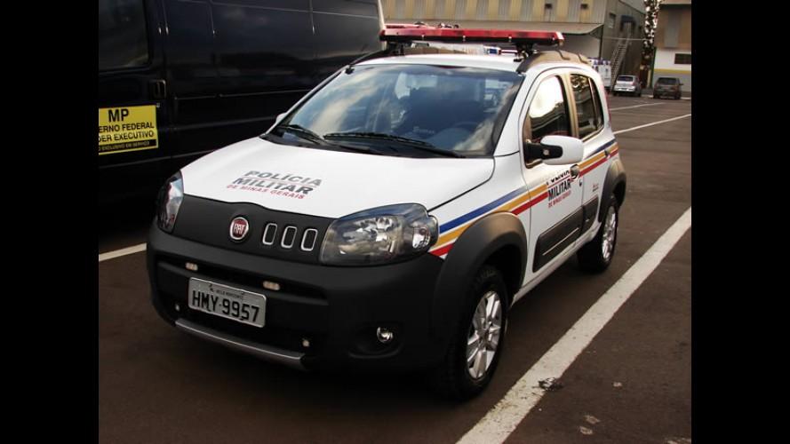 Interseg: Novo Uno vestido como Polícia Militar