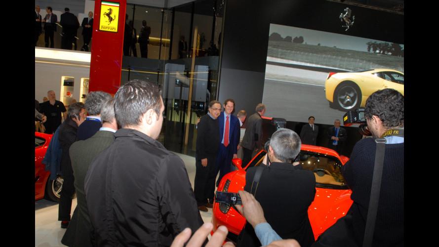 Sergio Marchionne, Lapo e John Elkann al Salone di Ginevra 2010