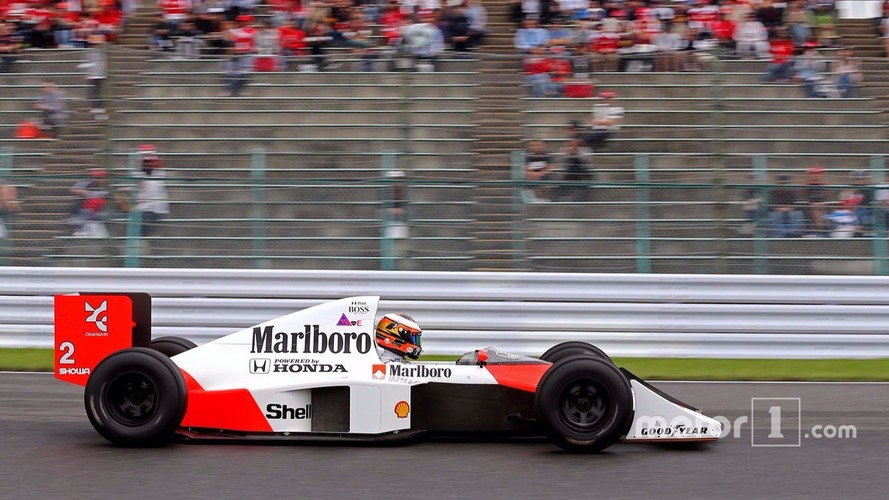 Stoffel Vandoorne, troisième pilote, McLaren F1 Team pilote la McLaren MP4/5 d'Alain Prost