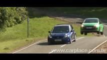 Vídeo: Confira uma volta a bordo do esportivo Renault Clio RS colado no Ford Focus RS