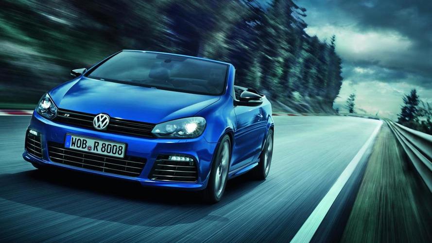 Volkswagen Golf VI R Cabriolet spec'd and priced for UK & DE