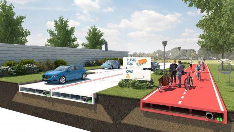 The roads of the future could be built from recycled plastic