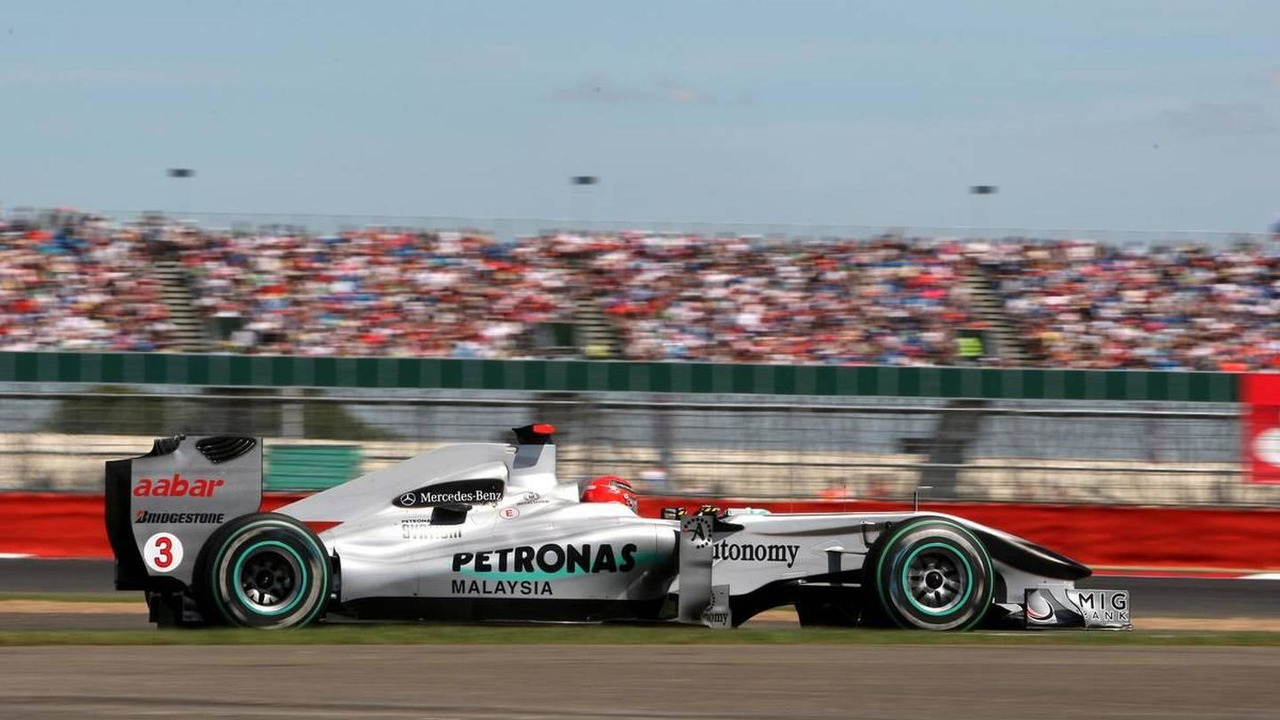 Michael Schumacher (GER), Mercedes GP Petronas, British Grand Prix, Friday Practice, 09.07.2010 Silverstone, England