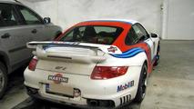Porsche 997 Martini GT2 crashes in Finland, 800, 31.03.2011