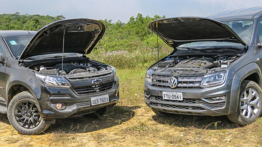 Comparativo VW Amarok 3.0 V6 x Chevrolet S10 2.8: Eu tenho a força!