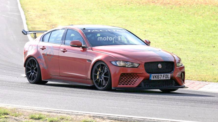 Jaguar XE SV Project 8 Seen In Action Attacking The Nürburgring