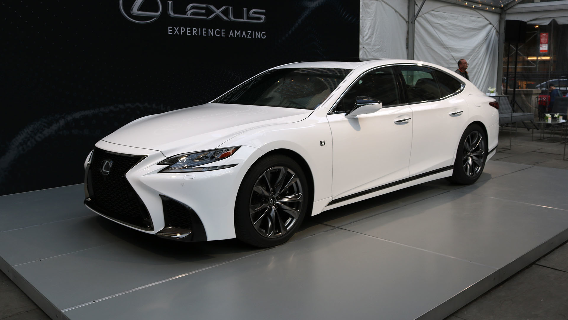 2018 lexus ls 500 f sport is a more aggressive luxury sedan. Black Bedroom Furniture Sets. Home Design Ideas