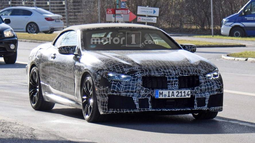 BMW M8 Convertible Spied Showing More Of Its Body Lines