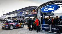 The car of Sébastien Ogier, Julien Ingrassia, Ford Fiesta WRC, M-Sport in service