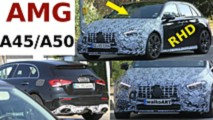 2020 Mercedes-AMG A45 screenshots from spy video