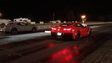 Watch A Corvette ZR-1 Beat The Unbeatable Demon In A Drag Race