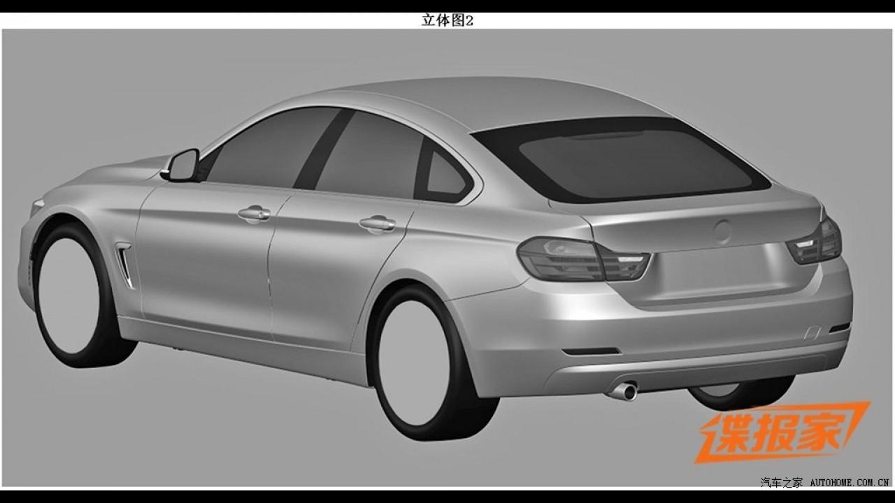 BMW Série 4 Grand Coupé surge em imagens de registo de patente