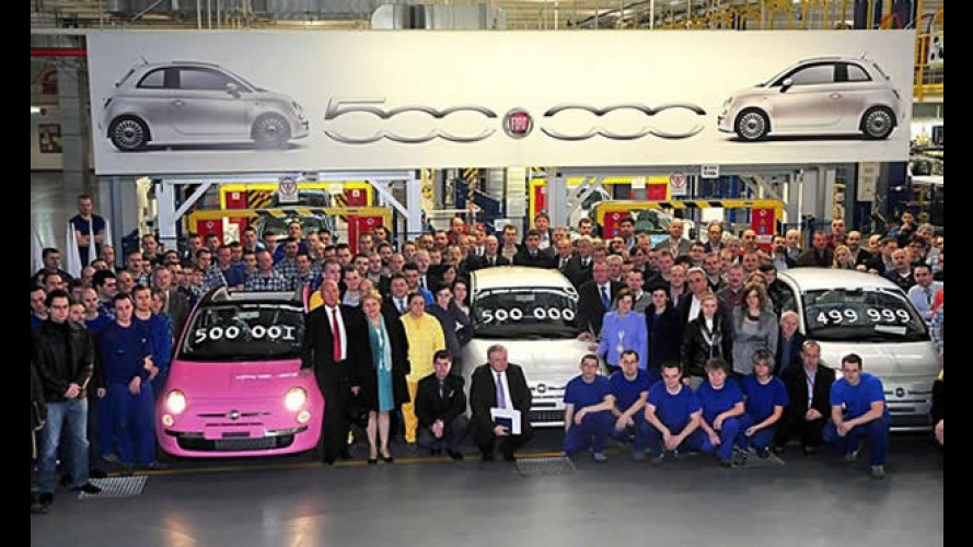 Fiat 500 chega a marca de 500 mil unidades