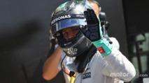 Nico Rosberg, Mercedes AMG F1 celebrates his second position
