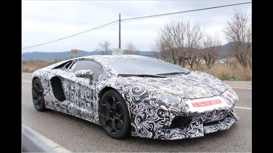 Erwischt: Lamborghini Aventador