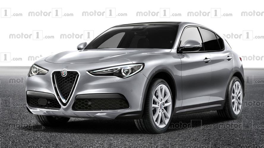 Alfa Romeo Stelvio rendered in cheaper trim