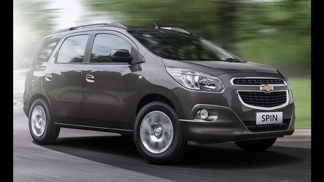 Chevrolet Spin será vendida na Índia com motor diesel da Fiat