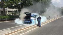BMW i3 police car fire