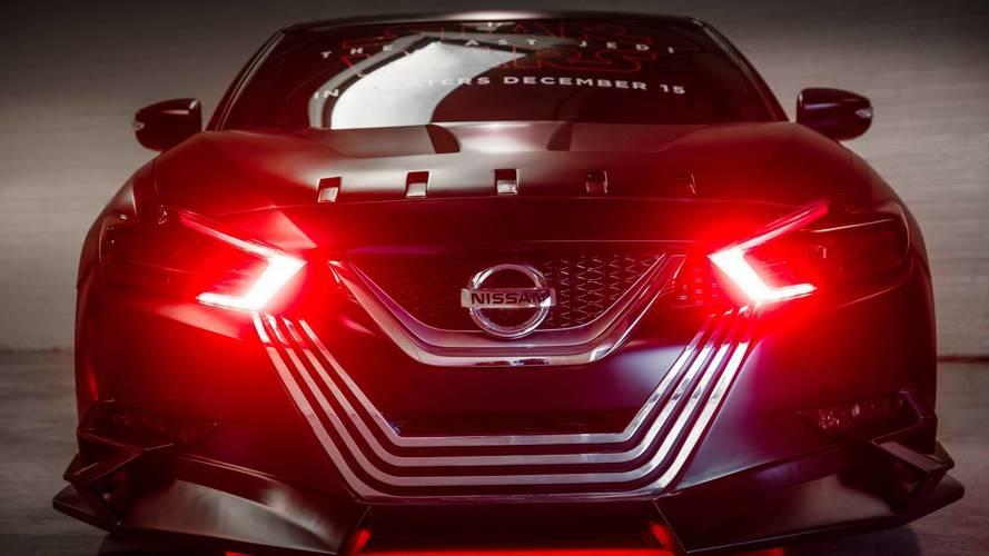 Kylo Ren drives a Nissan