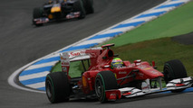 Felipe Massa (BRA), Scuderia Ferrari leads Mark Webber (AUS), Red Bull Racing, German Grand Prix, Friday Practice, 23.07.2010 Hockenheim, Germany