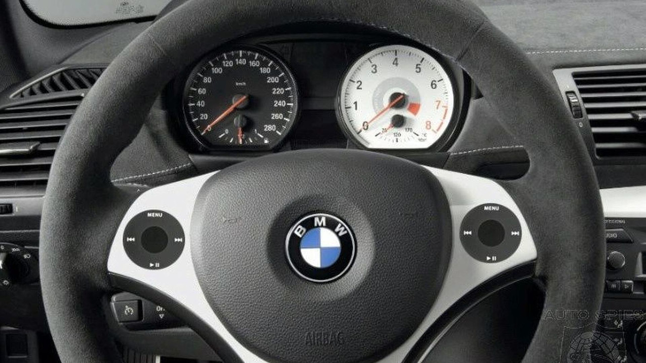 BMW steering wheel with iPod scroll wheels