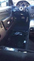Mercedes-Benz C63 AMG interior wrecked in Sweden