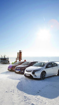 Opel Ampera at frozen Baltic Sea