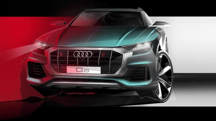 Audi Q8, a una settimana dal debutto mostra la faccia