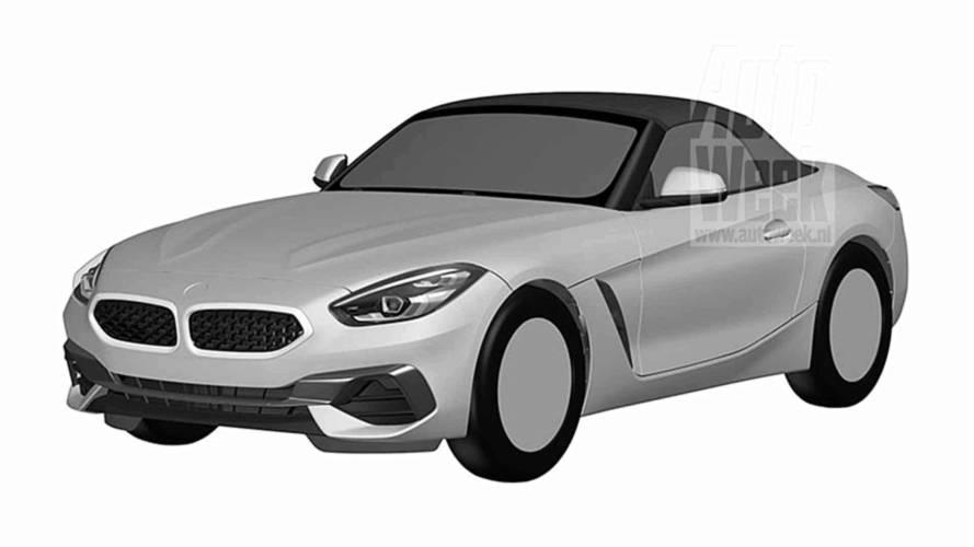 BMW Z4 de produção tem visual revelado em registros de patente