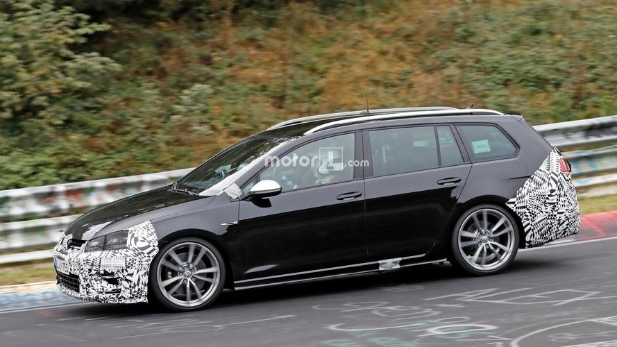 VW Golf R Variant facelift pushed hard on the Nurburgring