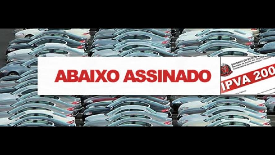 Abaixo-assinado visa reduzir o IPVA em São Paulo e estender a isenção do IPI