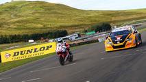 Isle of Man TT legend, BTCC champion swap machines for a race