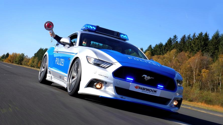 Alman polisinin yeni oyuncağı bu Mustang