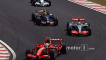 Kimi Raikkonen, Scuderia Ferrari, Fernando Alonso, McLaren Mercedes, Mark Webber, Red Bull Racing, Nick Heidfeld, BMW Sauber F1 Team