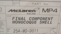 McLaren MP4-25 monocoque shell teaser - 27.01.2010