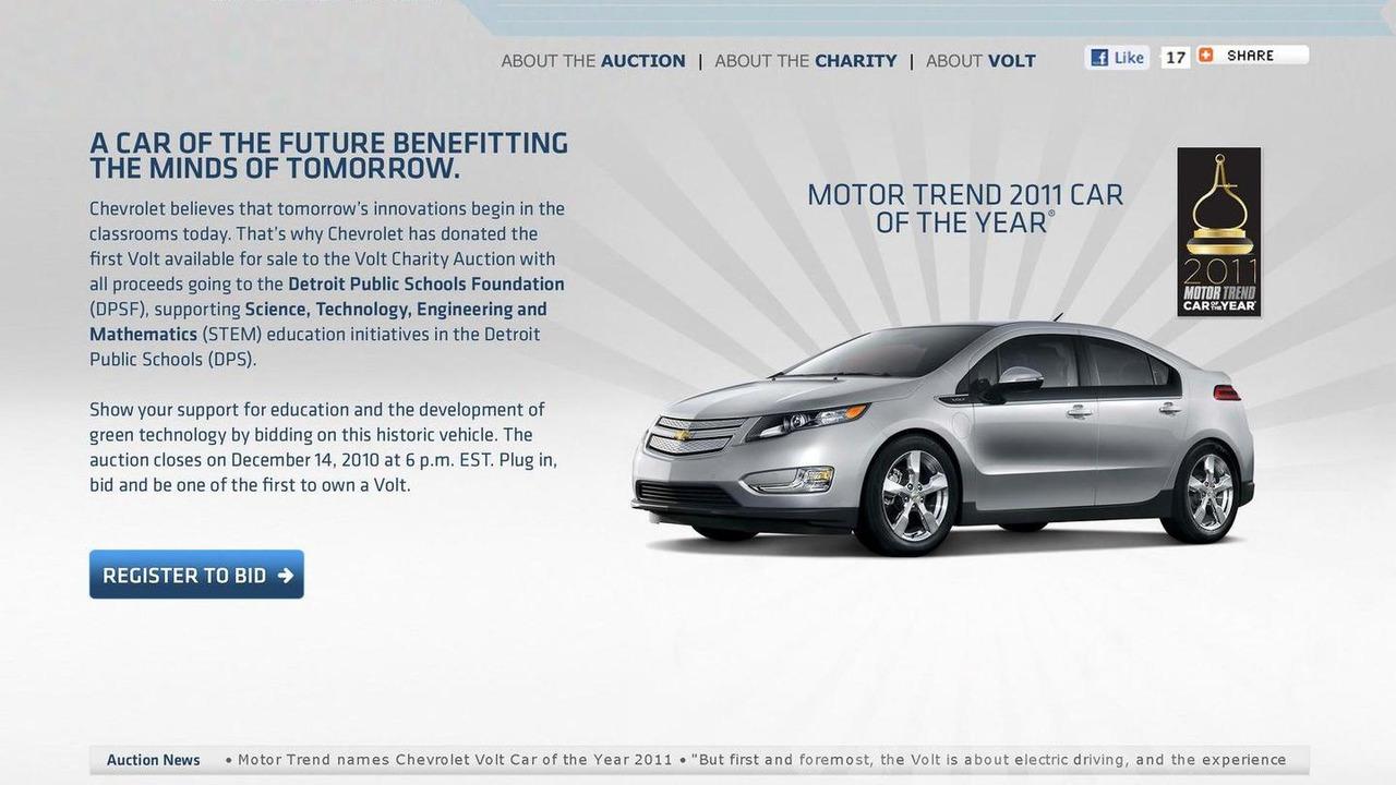 2011 Chevrolet Volt up for Auction