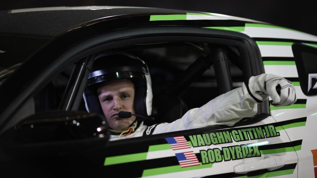 Vaughn Gittin Jr. and Rob Dyrdek, 2011 Ford Mustang skateboard car 08.07.2010