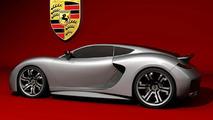 Porsche Supercar Concept Rendered by Emil Baddal