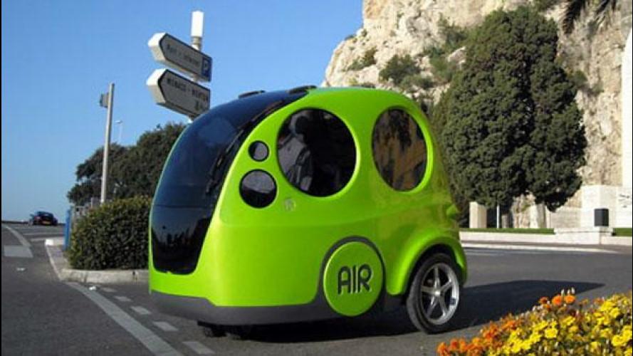 L'auto ad aria sarà in vendita dal 2013, il primo modello si chiama