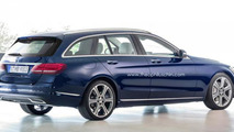 Mercedes-Benz C-Class Estate rendered after undisguised prototype spy photo