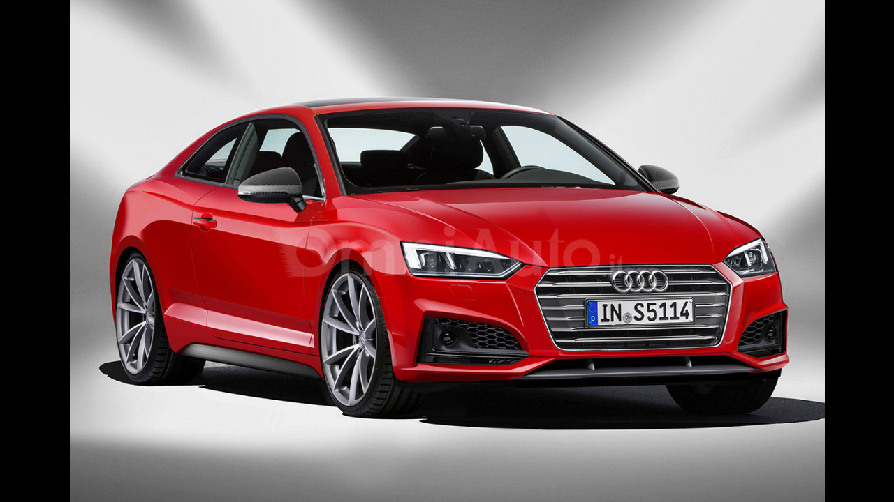 Nuova Audi S5 Coupé, il rendering