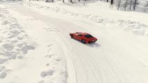 Lamborghini Miura kar sürüşü