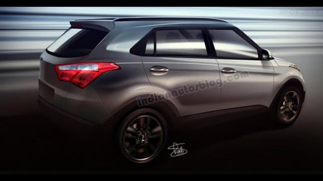 Segredo: fotos mostram interior do Hyundai ix25 - SUV estará no Salão do Automóvel