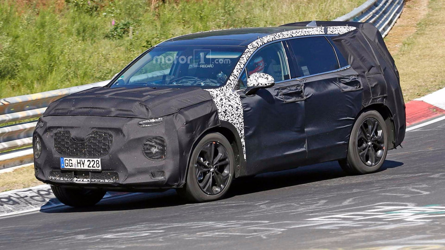Next Hyundai Santa Fe Spied Hustling Around The Nurburgring