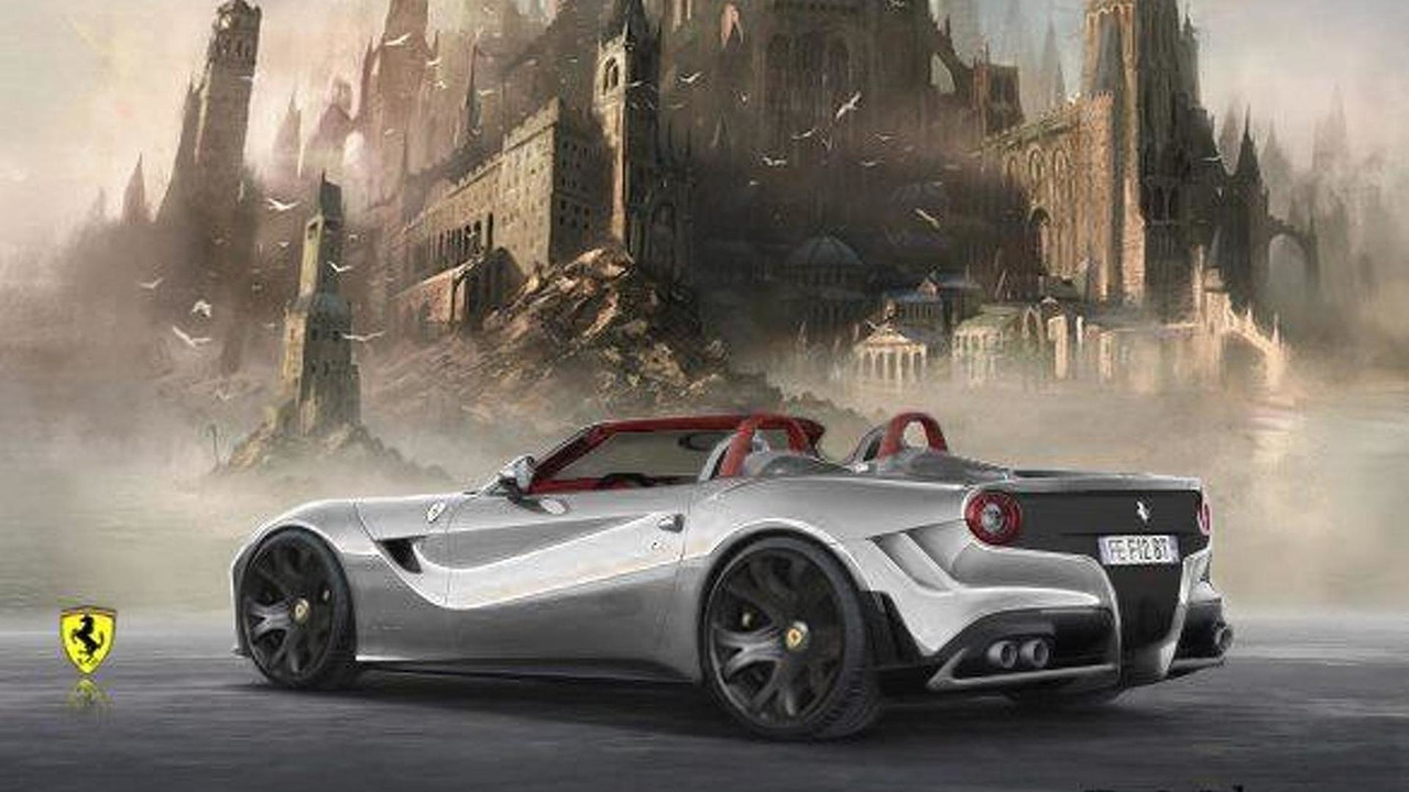 Ferrari F12 Berlinetta Spyder artists rendering